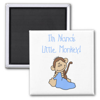 Nana's Little Monkey - Blue Tshirts and Gifts Magnet