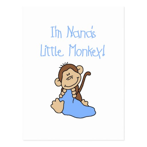 Nana's Little Monkey - Blue Tshirts and Gifts Postcards