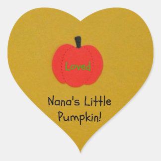 Nana's Little Pumpkin! Heart Sticker