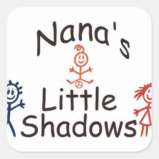 Nanas Little Shadows Square Sticker