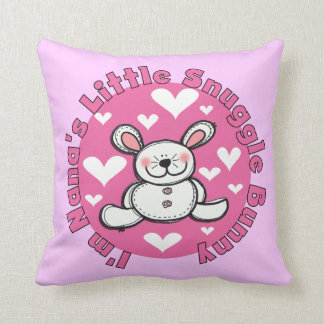 Nana's Little Snuggle Bunny Throw Pillow
