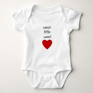 Nana's Little Sweet Heart Baby Bodysuit