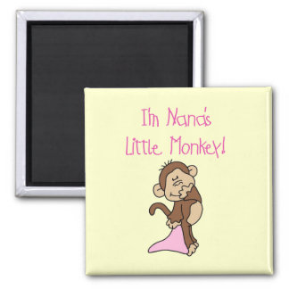 Nana's Monkey - Pink T-shirts and Gifts 2 Inch Square Magnet
