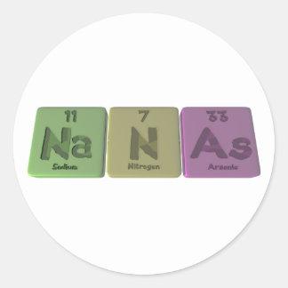 Nanas-Na-N-As-Sodium-Nitrogen-Arsenic.png Classic Round Sticker