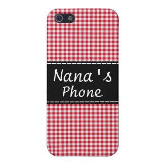 Nana's Phone Case - Red Gingham