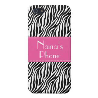 Nana's Phone Case - Zebra and Hot Pink