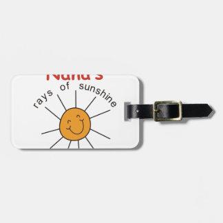 Nanas Rays of Sunshine Luggage Tag