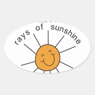 Nanas Rays of Sunshine Oval Sticker