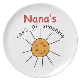 Nanas Rays of Sunshine Plate