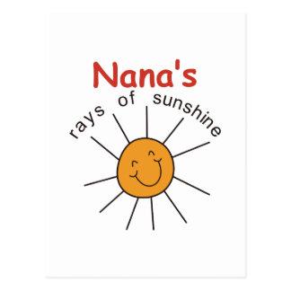 Nanas Rays of Sunshine Postcard