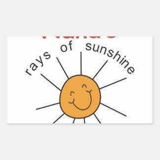 Nanas Rays of Sunshine Rectangular Sticker
