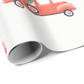 Nana's Red Truck Wrapping Paper