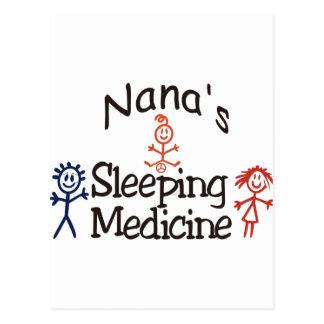 Nanas Sleeping Medicine Postcard