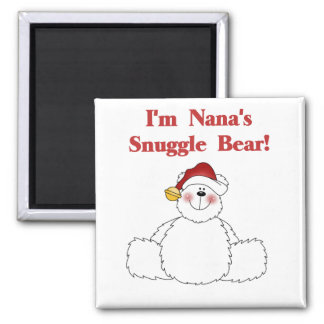 Nana's Snuggle Bear T-shirts and Gifts 2 Inch Square Magnet