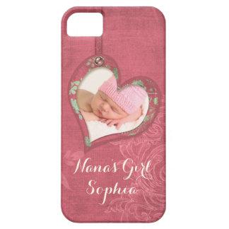 Nanas Sweet Baby Girl Butterfly Heart Photo Case
