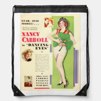 Nancy Carroll 1929 movie exhibitor ad dancing Drawstring Backpack