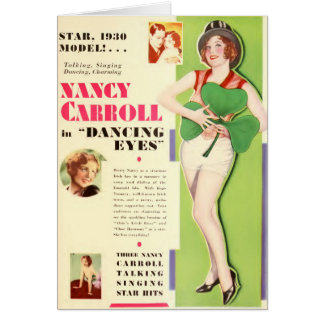 Nancy Carroll 1929 silent movie exhibitor ad Card