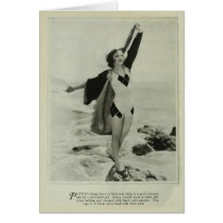 Nancy Carroll 1929 vintage swimsuit portrait card