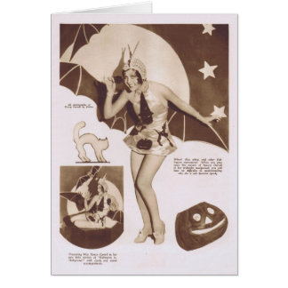 Nancy Carroll Halloween theme 1929 Card