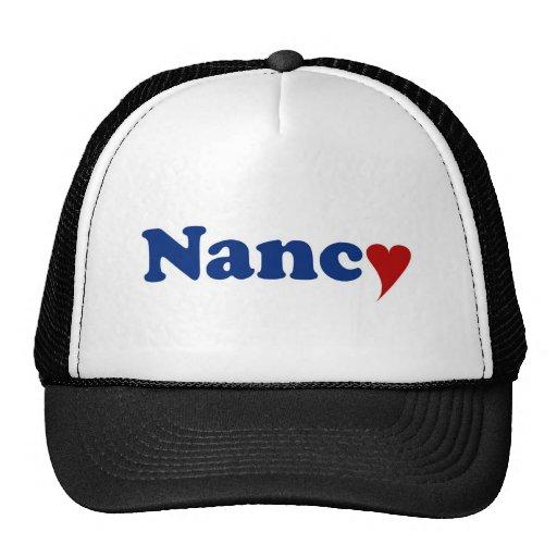 Nancy con el corazón gorros bordados