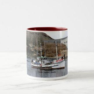 Nancy Ellen, Longliner in Dutch Harbor, Alaska Two-Tone Coffee Mug