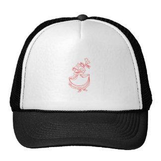 Nancy Etticoat Redwork Trucker Hat