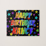 "[ Thumbnail: ""Nancy"" First Name, Fun ""Happy Birthday"" Jigsaw Puzzle ]"