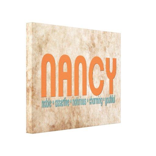 {Nancy} impresión conocida de la lona del signific Lona Estirada Galerias