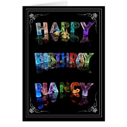 Nancy - Name in Lights greeting card (Photo)
