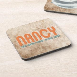 { Nancy } Name Meaning Coaster Set