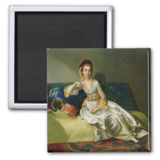 Nancy Parsons in Turkish Dress, c.1771 (oil on cop 2 Inch Square Magnet