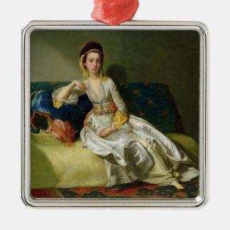 Nancy Parsons in Turkish Dress, c.1771 (oil on cop Metal Ornament