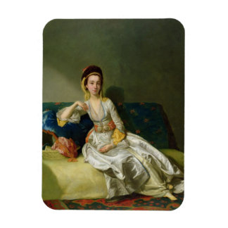 Nancy Parsons in Turkish Dress, c.1771 (oil on cop Rectangular Photo Magnet