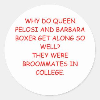 nancy pelosi barbara boxer joke sticker