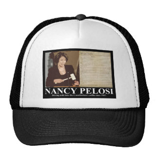 Nancy Pelosi: Clavos de ataúd de la constitución Gorros Bordados