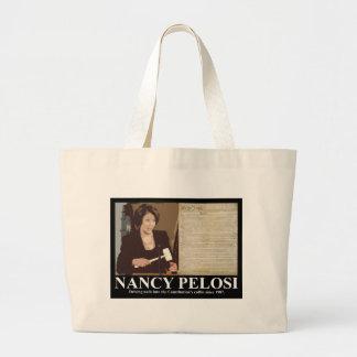Nancy Pelosi: Constitution coffin nails Canvas Bag