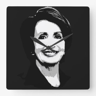 Nancy Pelosi Face Square Wall Clock
