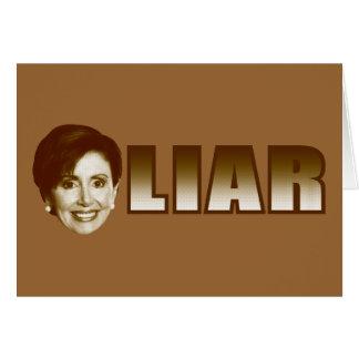 Nancy Pelosi is a Liar Card