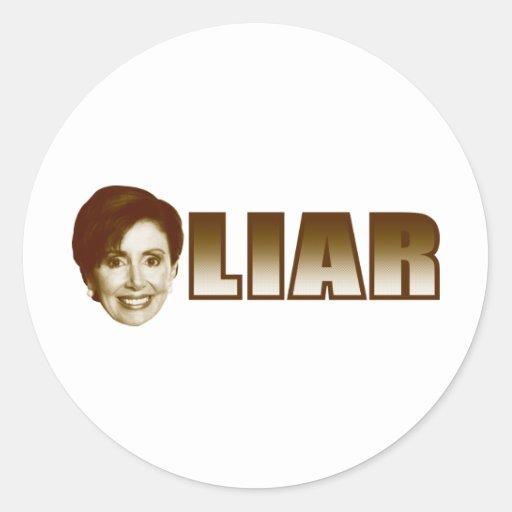 Nancy Pelosi is a Liar Classic Round Sticker