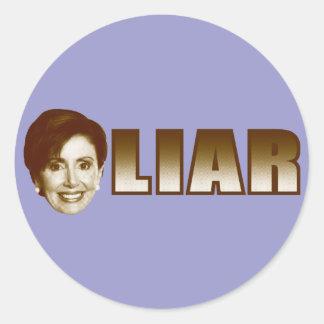 Nancy Pelosi is a Liar Stickers