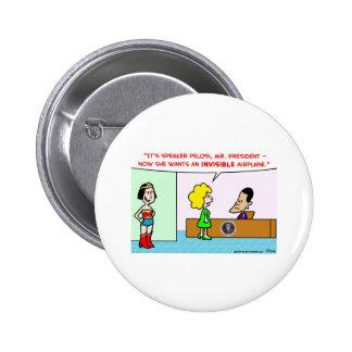 nancy pelosi obama invisible airplane 2 inch round button