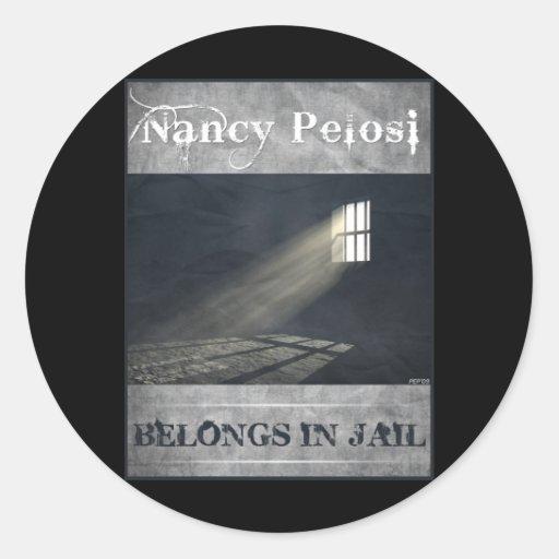 Nancy Pelosi Pegatina Redonda