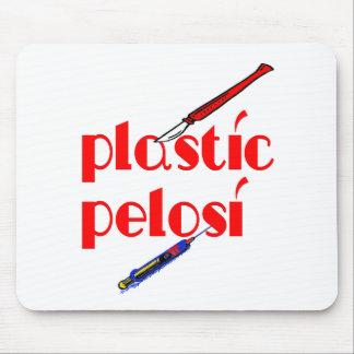 Nancy Pelosi plástico Mousepads