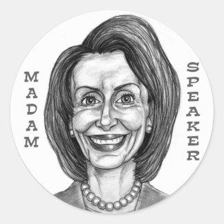 Nancy Pelosi Round Stickers