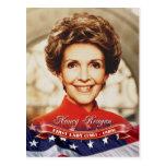 Nancy Reagan, primera señora de los E.E.U.U. Tarjetas Postales