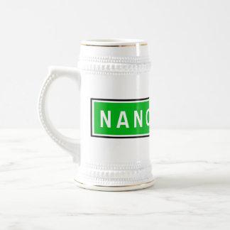 Nancy, Road Sign, France Beer Stein