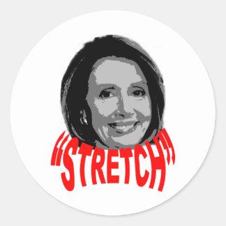 """Nancy """"Stretch"""" Pelosi Round Stickers"""