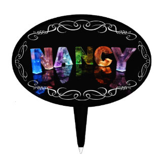 Nancy  - The Name Nancy in 3D Lights (Photograph) Cake Toppers