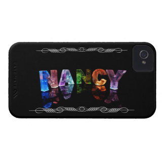 Nancy  - The Name Nancy in 3D Lights (Photograph) Case-Mate iPhone 4 Case