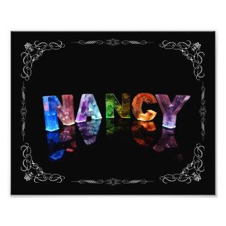 Nancy  - The Name Nancy in 3D Lights (Photograph) Photo Print